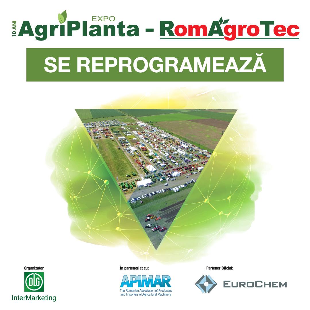 AgriPlanta-RomAgroTec2020_Se reprogrameaza